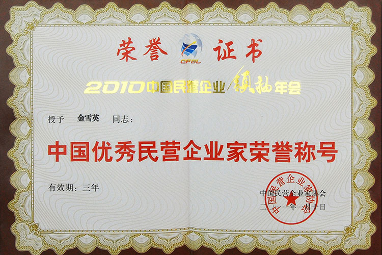 Outstanding entrepreneurs in China's economic construction